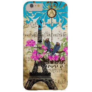 Coque iPhone 6 Plus Barely There iPhone de lustre d'oiseau de fleurs de cerisier de