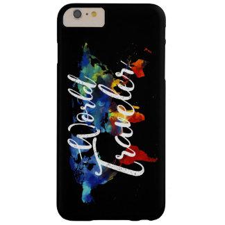 Coque iPhone 6 Plus Barely There iPHONE de VOYAGEUR du MONDE/CAS d'iPAD/GALAXIE
