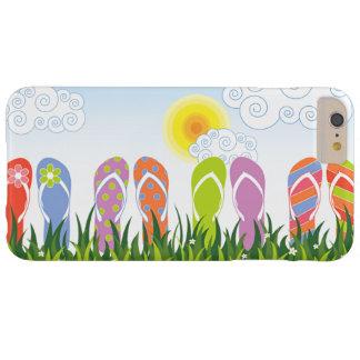Coque iPhone 6 Plus Barely There Jardin coloré d'amusement de bascules