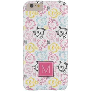 Coque iPhone 6 Plus Barely There Joli monogramme du motif   de pastels