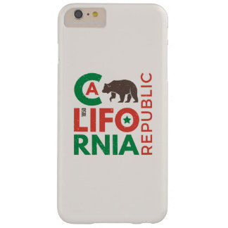 Coque iPhone 6 Plus Barely There La Californie avec le logo d'ours gris