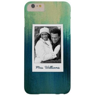 Coque iPhone 6 Plus Barely There La texture de papier turquoise foncée | d'art