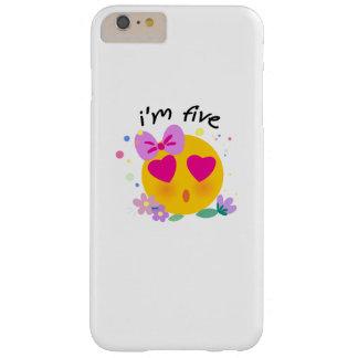 Coque iPhone 6 Plus Barely There Le 5ème anniversaire d'Emoji badine pour la partie