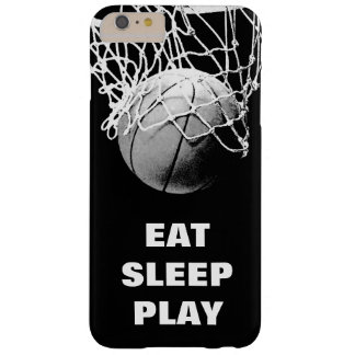 Coque iPhone 6 Plus Barely There Le blanc noir mangent le basket-ball de jeu de