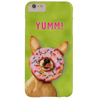 Coque iPhone 6 Plus Barely There Le chien drôle de chiwawa avec arrosent le beignet