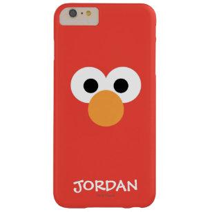 Coque iPhone 6 Plus Barely There Le grand visage   d'Elmo ajoutent votre nom