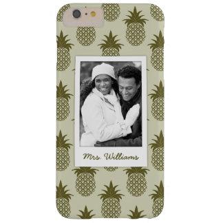 Coque iPhone 6 Plus Barely There Le motif kaki | d'ananas ajoutent votre photo et