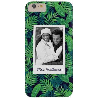 Coque iPhone 6 Plus Barely There Le motif tropical | de feuille ajoutent votre
