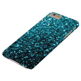 Coque iPhone 6 Plus Barely There Le scintillement bleu d'Aqua miroite cas plus de