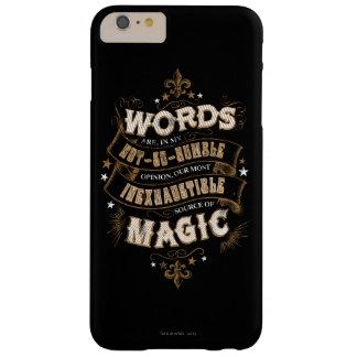 Coque iPhone 6 Plus Barely There Les mots du charme | de Harry Potter sont notre la