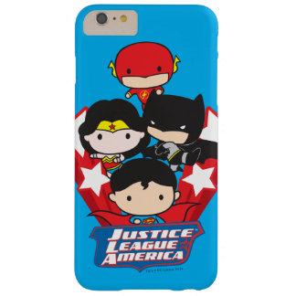 Coque iPhone 6 Plus Barely There Ligue de justice de Chibi des étoiles de