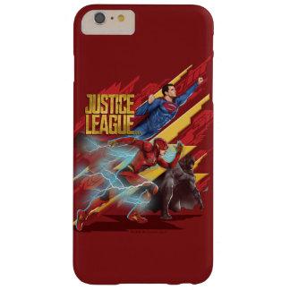 Coque iPhone 6 Plus Barely There Ligue de justice   Superman, éclair, et insigne de