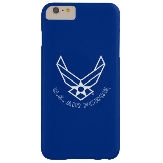 Coque iPhone 6 Plus Barely There Logo de l'Armée de l'Air - bleu
