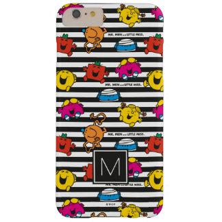 Coque iPhone 6 Plus Barely There M. Men et petit monogramme du motif   de rayures
