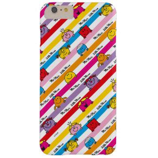 Coque iPhone 6 Plus Barely There M. Men et petit motif de rayures d'arc-en-ciel de