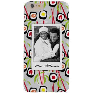 Coque iPhone 6 Plus Barely There Monogramme du motif | de conception de sushi