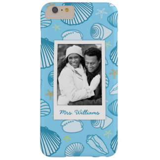 Coque iPhone 6 Plus Barely There Motif | de bleu d'océan votre photo et nom