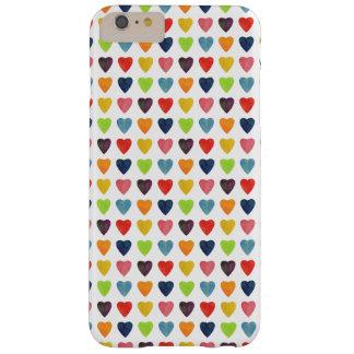 Coque iPhone 6 Plus Barely There Motif de coeur d'aquarelle
