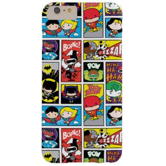 Coque iPhone 6 Plus Barely There Motif de compilation de ligue de justice de Chibi