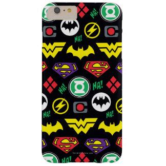Coque iPhone 6 Plus Barely There Motif de logo de ligue de justice de Chibi