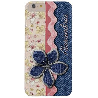 Coque iPhone 6 Plus Barely There Motif floral en pastel mignon de hanche de jeans