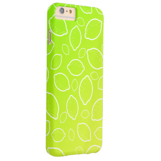 Coque iPhone 6 Plus Barely There motif jaune vert frais de citron d'été girly