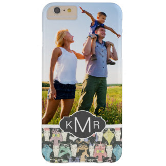 Coque iPhone 6 Plus Barely There Motif mignon de chats de hippie du monogramme |
