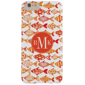 Coque iPhone 6 Plus Barely There Motif orange lumineux de poissons d'aquarelle