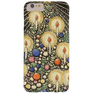 Coque iPhone 6 Plus Barely There Noël vintage, arbre avec des bougies et une étoile