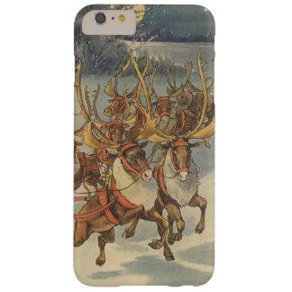 Coque iPhone 6 Plus Barely There Noël vintage le père noël Sleigh avec le renne