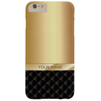Coque iPhone 6 Plus Barely There Nom de luxe royal de coutume d'or