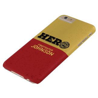 Coque iPhone 6 Plus Barely There Nom fait sur commande, héros de sapeur-pompier
