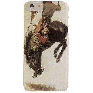 Coque iPhone 6 Plus Barely There Occidental vintage, cowboy sur un cheval