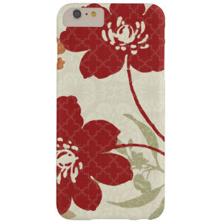 Coque iPhone 6 Plus Barely There Ombres florales en rouge et orange