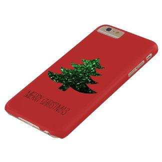 Coque iPhone 6 Plus Barely There Personnalisez les étincelles de vert d'arbre de