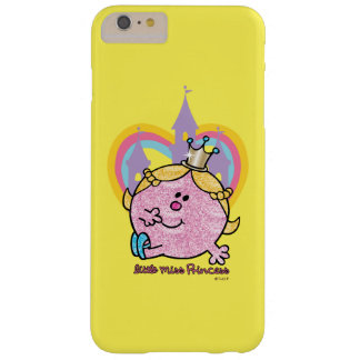 Coque iPhone 6 Plus Barely There Petite Mlle princesse Posing With Castle et coeur