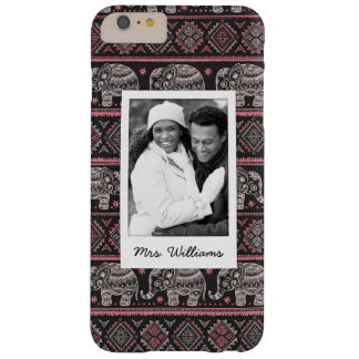 Coque iPhone 6 Plus Barely There Photo faite sur commande et motif ethnique noir