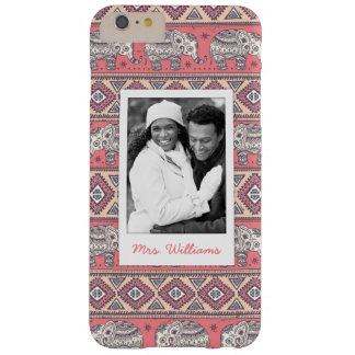 Coque iPhone 6 Plus Barely There Photo faite sur commande et motif ethnique rose