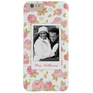 Coque iPhone 6 Plus Barely There Photo faite sur commande et roses roses élégants