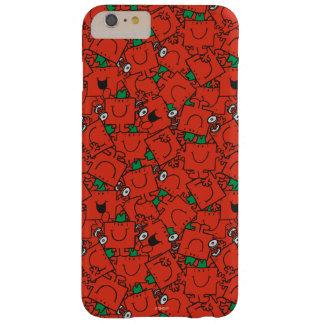 Coque iPhone 6 Plus Barely There Poids de levage de M. Strong   rouges et motif