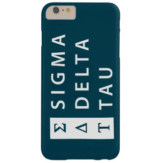 Coque iPhone 6 Plus Barely There Tau | de delta de sigma empilé