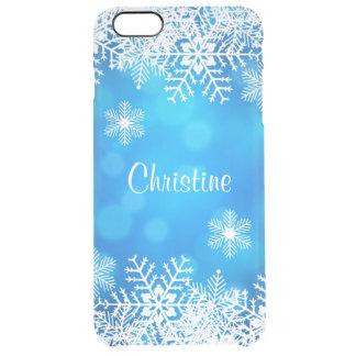 Coque iPhone 6 Plus De flocons de neige cas plus de l'iPhone 6 blancs