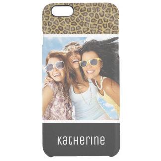 Coque iPhone 6 Plus Fourrure faite sur commande de photo et de léopard