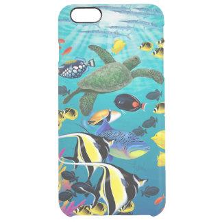 Coque iPhone 6 Plus Illustration tropicale hawaïenne de poissons de
