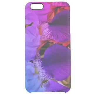 Coque iPhone 6 Plus L'iris pourpre fleurit la caisse de photo