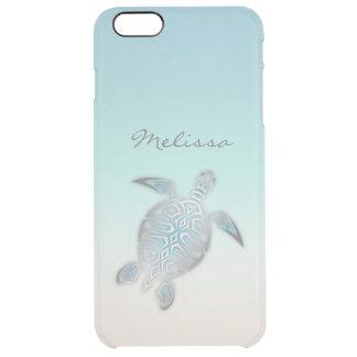 Coque iPhone 6 Plus Monogramme clair argenté costal de tortue de mer