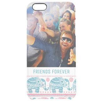 Coque iPhone 6 Plus Motif rose et turquoise fait sur commande de photo