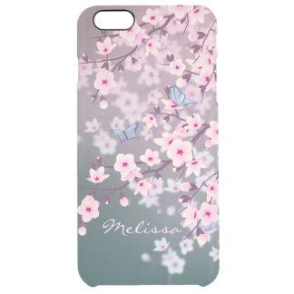 Coque iPhone 6 Plus Nuit rose de fleurs de cerisier