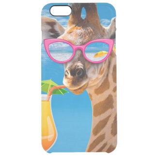 Coque iPhone 6 Plus Plage de girafe - girafe drôle