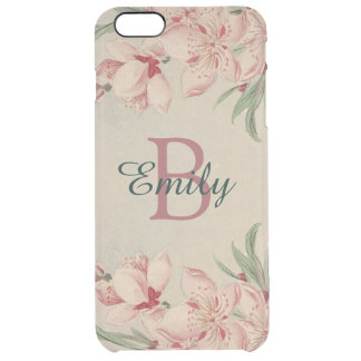 Coque iPhone 6 Plus Rose vintage d'aquarelle floral